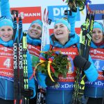 L'équipe de France féminine de biathlon a remporté samedi le relais dames de Ruhpolding en Allemagne (4x6km), comptant pour la Coupe du monde.