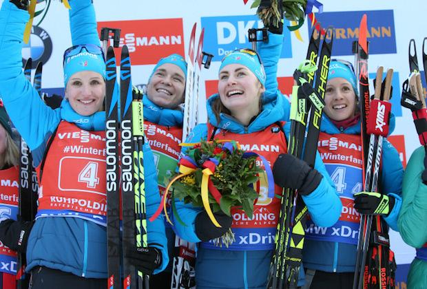 Biathlon : les Françaises remportent le relais de Ruhpolding