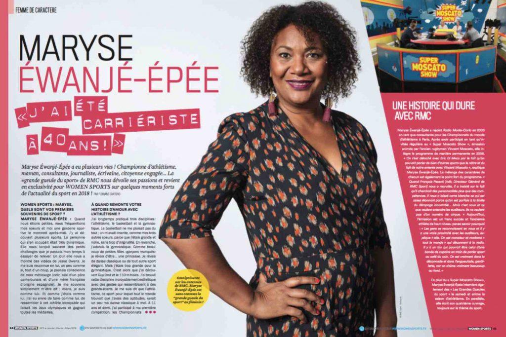 Interview de l'ancienne athlète Maryse Éwanjé-Épée, aujourd'hui «grande gueule du sport» sur les ondes de la radio RMC : «J'ai été carriériste à 40 ans !».