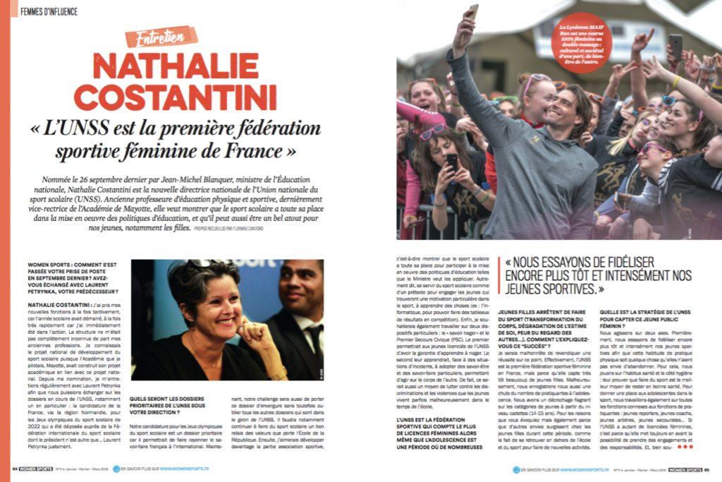 ITW de Nathalie Costantini, directrice nationale de l'Union nationale du sport scolaire : «L'UNSS est la première fédération sportive féminine en France».