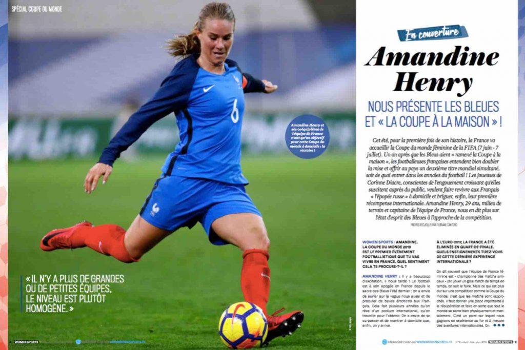 Amandine Henry, milieu de terrain et capitaine de l'équipe de France de football, nous présente les Bleues et la Coupe du monde de la FIFA , France 2019.