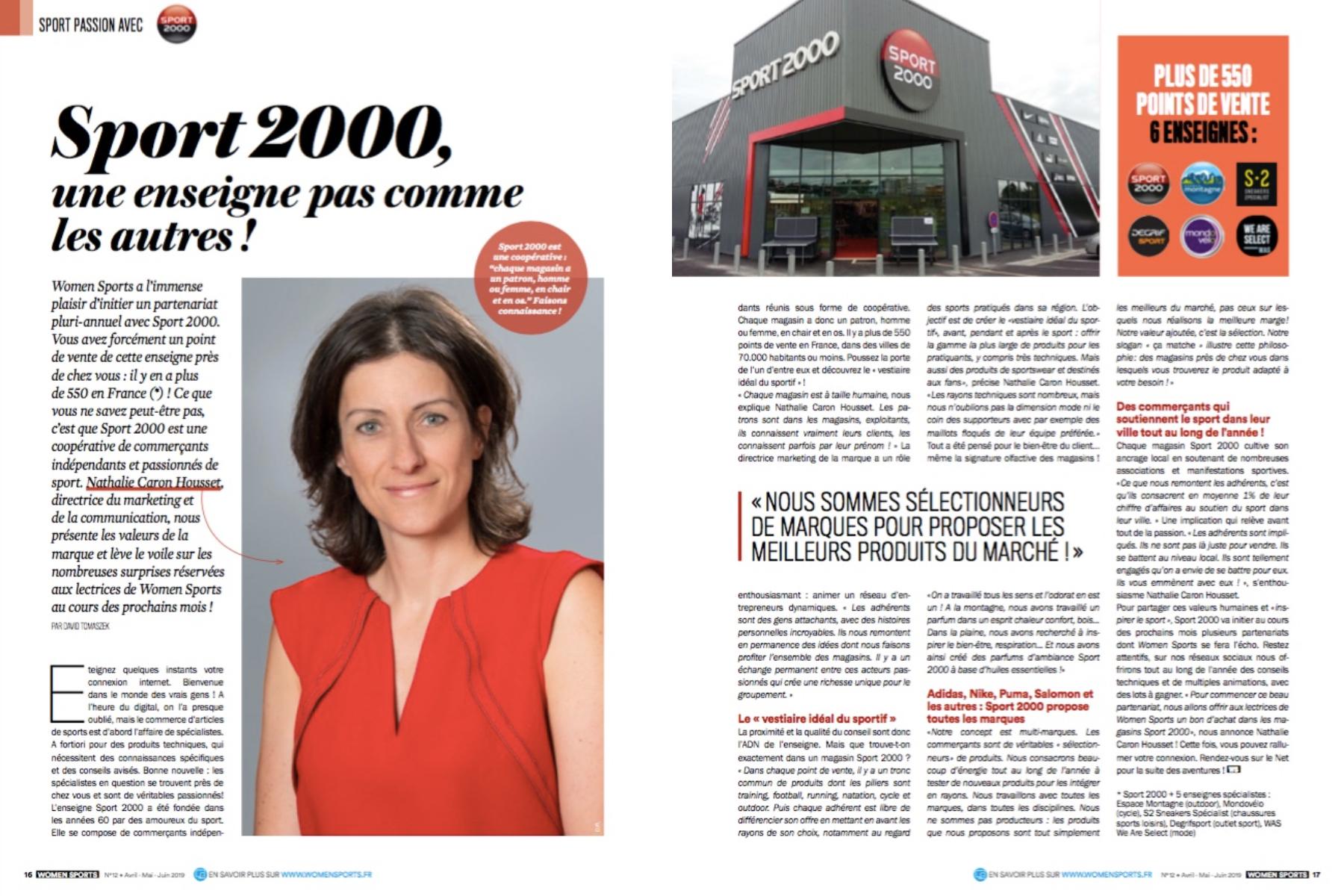 Women Sports a conclu un partenariat avec Sport 2000. Nathalie Caron Housset, directrice du marketing et de la communication, nous présente les valeurs de la marque.