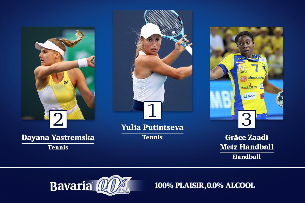 Le podium Women Sports de la semaine, by Bavaria 0.0%