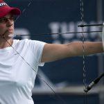 La Française Sophie Dodemont, 45 ans, a remporté la médaille de bronze dans l'épreuve du tir à l'arc des Jeux européens 2019.