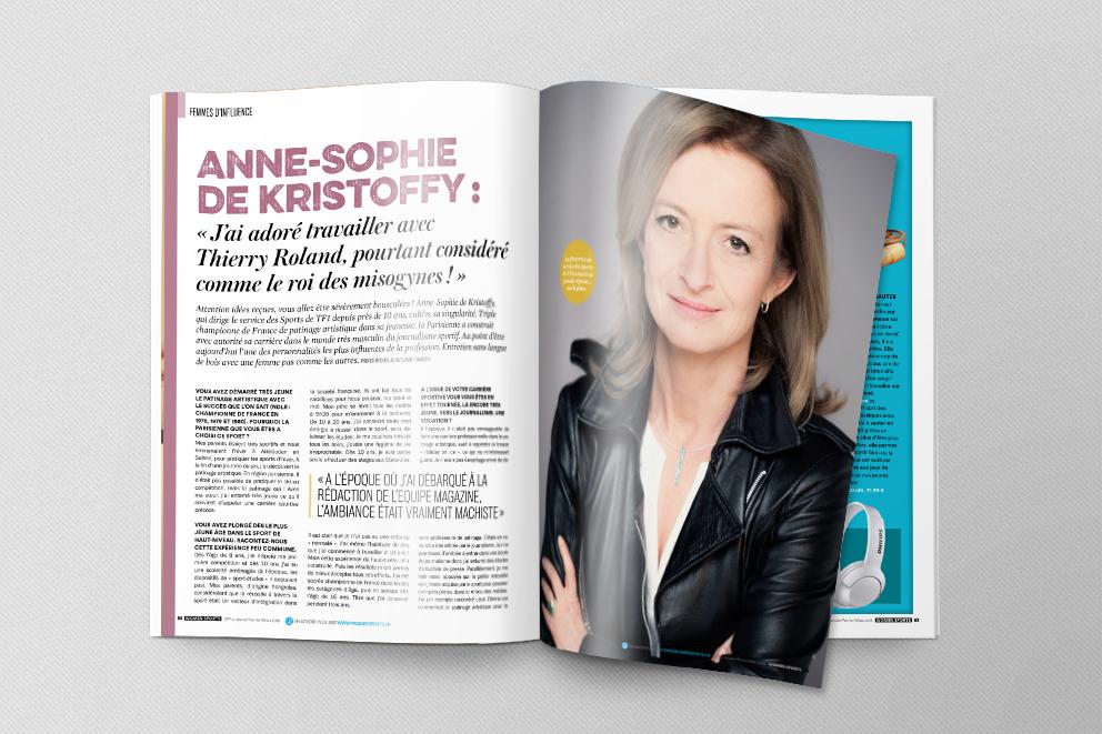 Anne-Sophie de Kristoffy : « J'ai adoré travailler avec Thierry Roland, pourtant considéré comme le roi des misogynes ! »