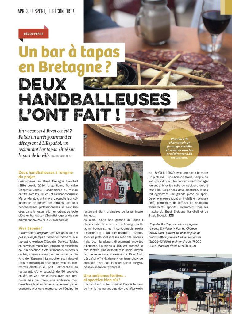 De passage en Bretagne cet été ? Faites un arrêt gourmand et dépaysant à L'Español, un restaurant bar tapas créé par deux handballeuses professionnelles de Brest.