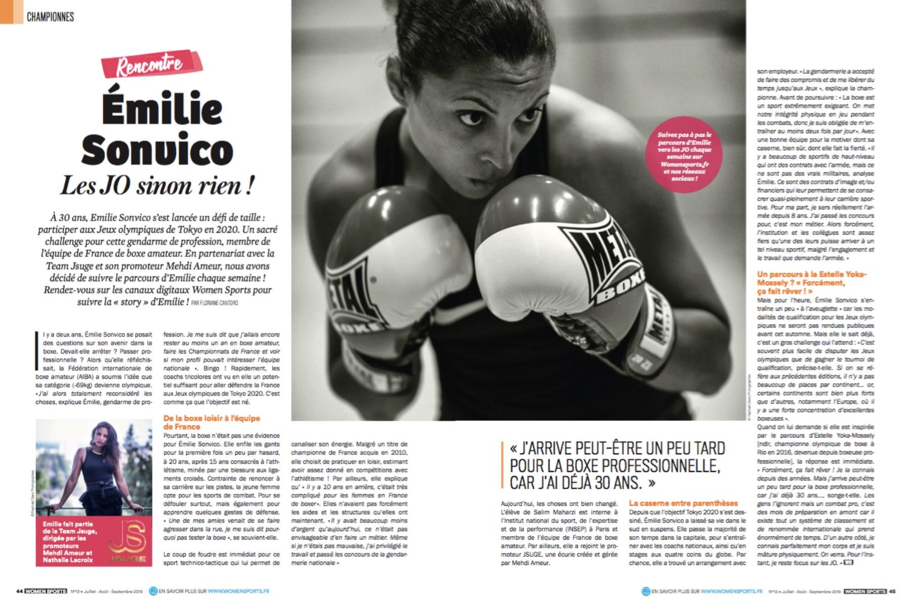 À 30 ans, Émilie Sonvico s'est lancée un défi de taille : participer aux Jeux olympiques de Tokyo en 2020. Un sacré challenge que nous allons suivre sur WS.