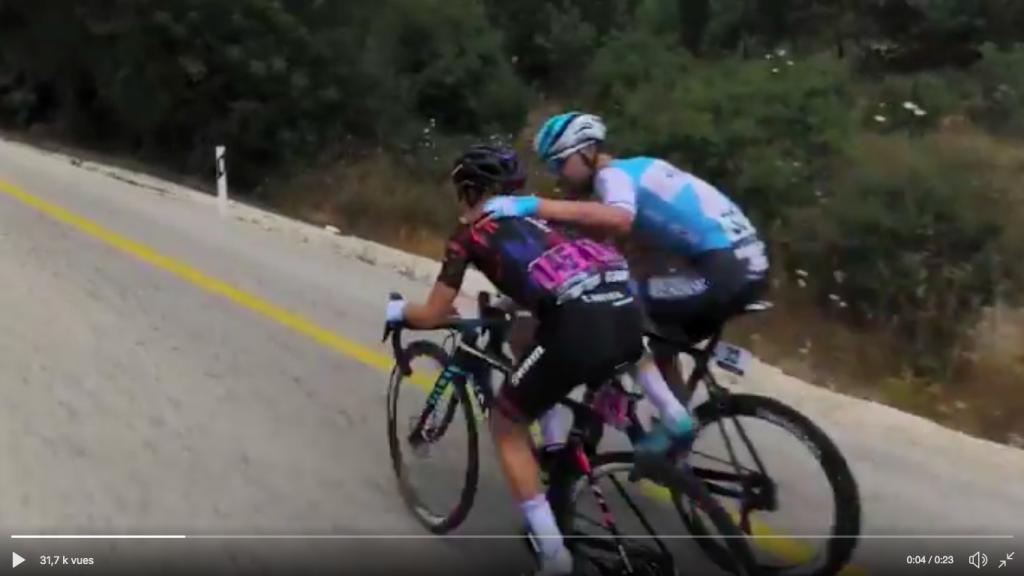 La belle image du jour : quand une cycliste se fait doubler par son mari…