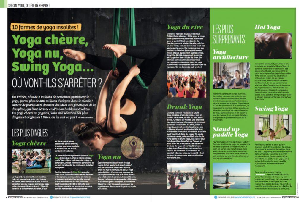 Du yoga chèvre au yoga nu, en passant par le drunk yoga, voici une sélection des disciplines dérivées du yoga les plus dingues et originales qui soient !