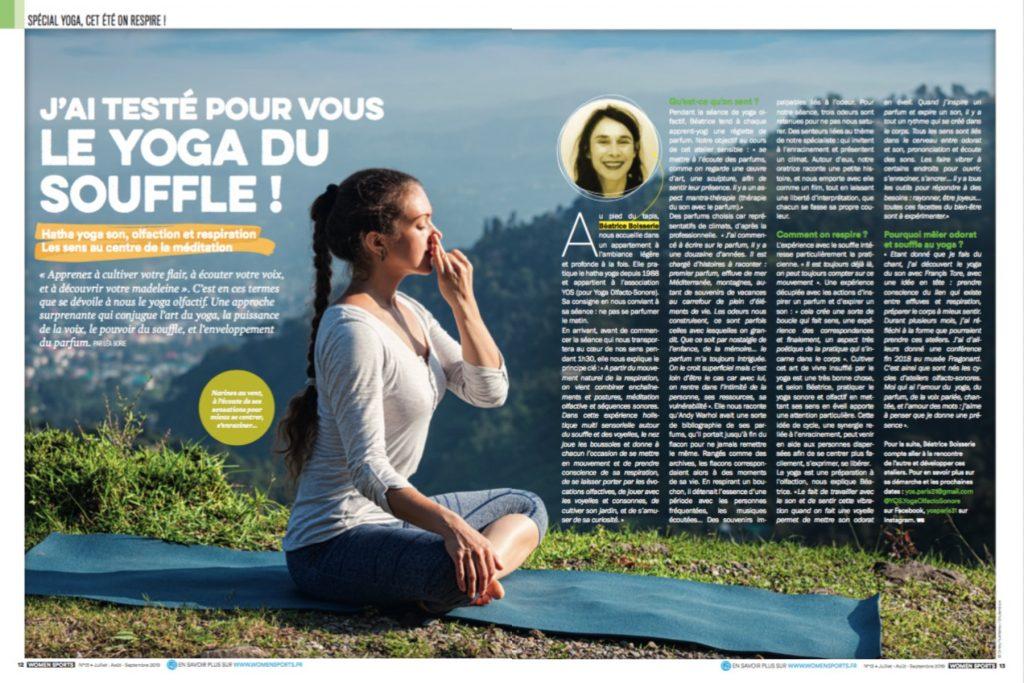 A la découverte du yoga olfactif, approche qui mêle hatha yoga, souffle, et parfum. Voyage au cœur des sens pour une méditation olfactive surprenante.