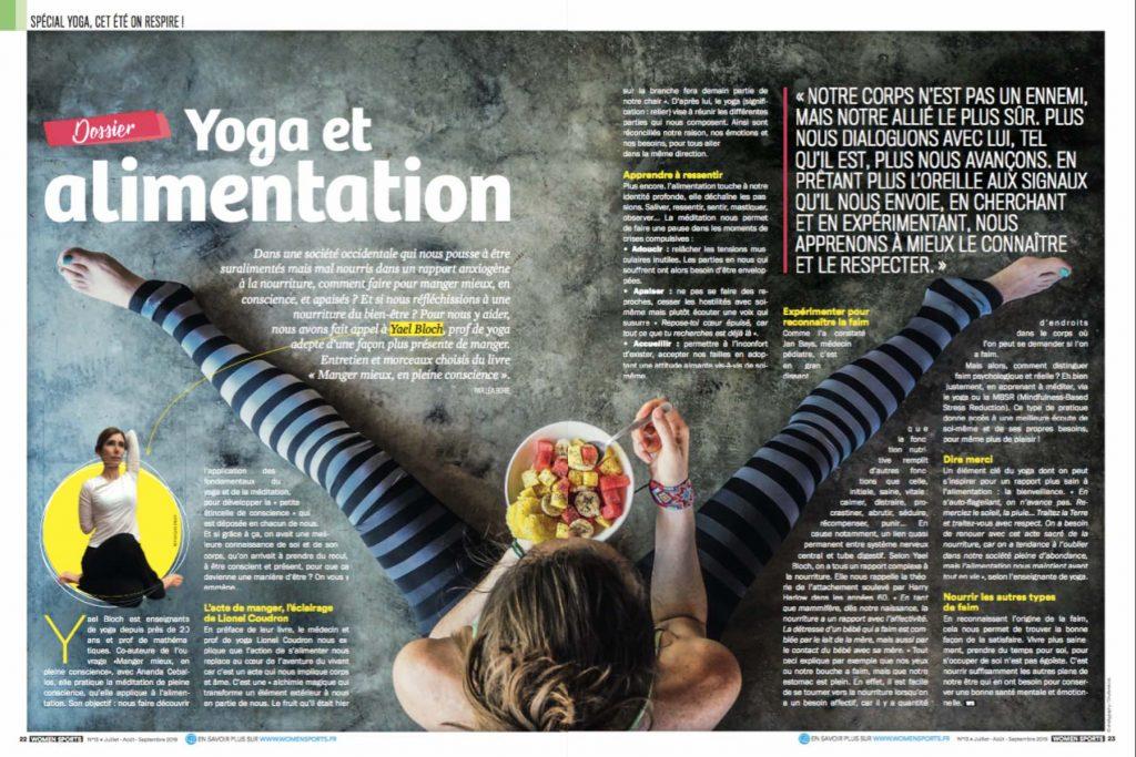 Manger en conscience via une nourriture bien-être ? Si on se faisait aider d'une prof de yoga pour que yoga et alimentation se marient avec sérénité ?