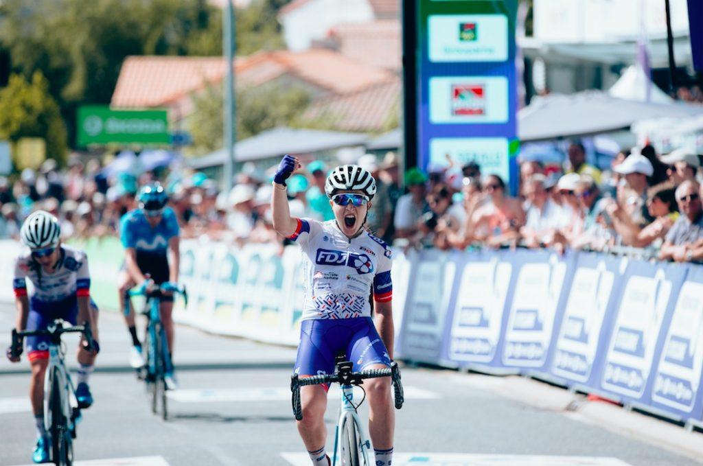 Jade Wiel (FDJ-Nouvelle Aquitaine-Futuroscope), championne de France 2019, roulera pour la 1er fois avec son maillot tricolore lors de la Course by le Tour.