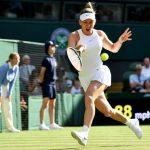 La Roumaine Simona Halep (N.7) s'est qualifiée pour la finale du tournoi de Wimbledon jeudi, à Londres, en battant l'Ukrainienne Elina Svitolina (5-3, 6-1).