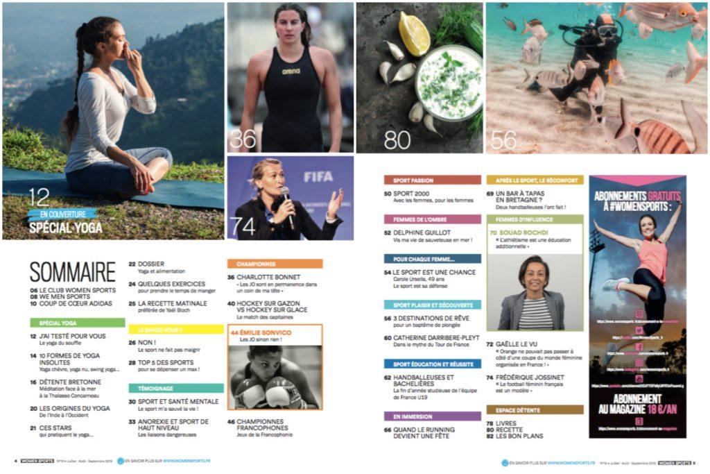 Le magazine WOMEN SPORTS N.13 est désormais disponible ! Dans cette nouvelle édition estivale, on parle yoga, sport et santé mentale, plongée sous-marine...