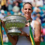 La Tchèque Karolina Pliskova, N.3 mondiale, a remporté samedi le tournoi WTA d'Eastbourne sur gazon en battant en finale l'Allemande Angelique Kerber (5e).