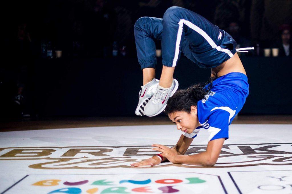 Interview selfie de la danseuse de breakdance Señorita Carlota