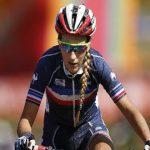 La Française Pauline Ferrand-Prévot a été sacrée championne du monde de VTT marathon dimanche à Grächen, en Suisse. Il s'agit de son 5e titre mondial.