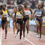 L'Ougandaise Halimah Nakaayi s'est imposée en finale du 800 m ce lundi soir dans le Stade Khalifa de Doha, en l'absence de la grande favorite Semenya.