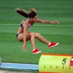 La Britannique Katarina Johnson-Thompson a remporté la médaille d'or de l'heptathlon des Mondiaux-2019 d'athlétisme jeudi soir, à Doha (Qatar).