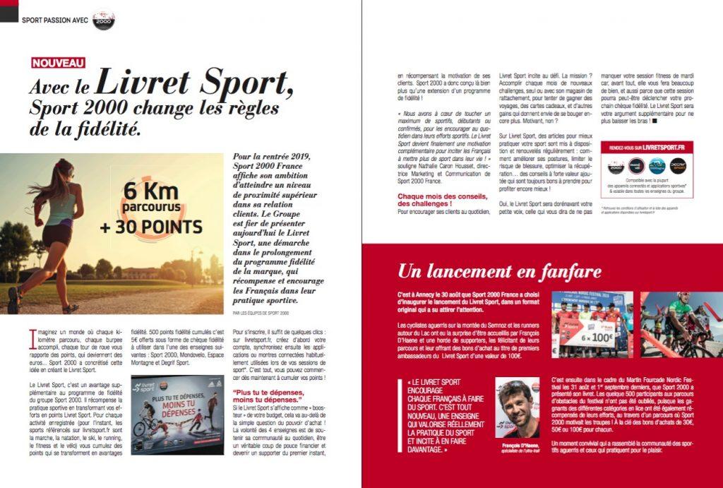 Sport 2000 lance le Livret Sport, une démarche parallèle de son programme fidélité, qui récompense et encourage les Français dans leur pratique sportive.