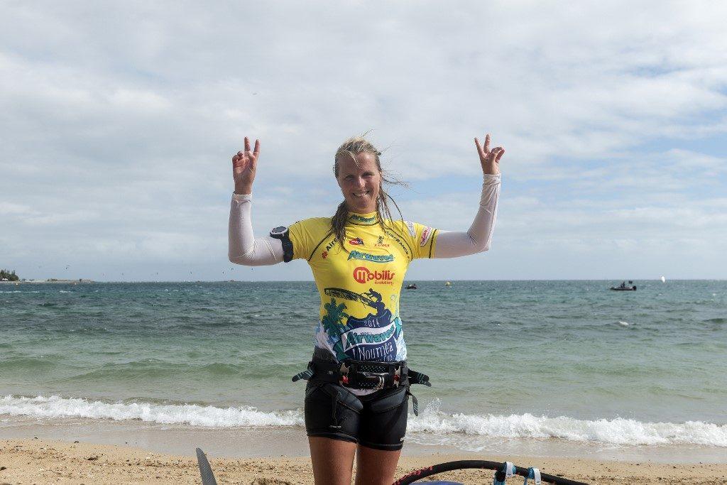 Delphine Cousin championne du monde de Windsurf Slalom PWA !