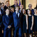 Le président de la République, Emmanuel Macron, a reçu l'équipe de France féminine de tennis à l'Élysée après sa victoire en Fed Cup contre l'Australie.
