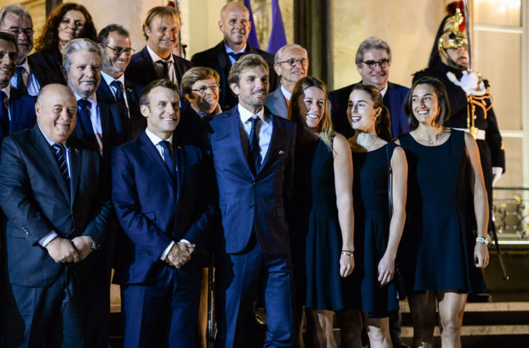 Fed Cup : Emmanuel Macron salue des « grandes dames »