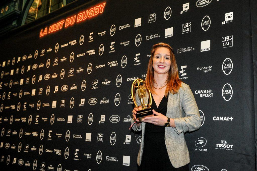 Nuit du Rugby : Pauline Bourdon élue meilleure joueuse internationale française