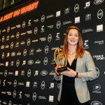 La Limougeaude Pauline Bourdon a été élue meilleure joueuse internationale française de la saison 2018-2019 lors de la Nuit du Rugby, lundi à l'Olympia.
