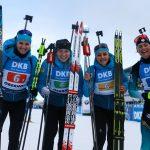 Les Françaises ont terminé 3emes samedi matin du relais dames d'Oberhof (Allemagne), comptant pour la Coupe du monde de biathlon 2019-2020.