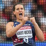 La vice-championne olympique du lancer du disque, Mélina Robert-Michon, a remporté ce dimanche les Championnats de France hivernaux à Salon-de-Provence.