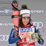 L'Italienne Federica Brignone a remporté le Super-G de Sotchi dimanche, en Russie, comptant pour la Coupe du monde de ski alpin 2019-2020.