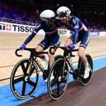 Marie Le Net et Clara Copponi ont décroché la médaille d'argent sur l'américaine des Championnats du monde 2020 de cyclisme sur piste samedi, à Berlin (Allemagne).