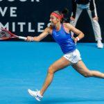 La Française Caroline Garcia, 46e joueuse mondiale, a remporté son ticket pour les quarts-de-finale du tournoi WTA de Lyon mercredi.
