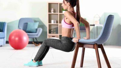 Quelques exercices de sport (faciles) à faire.. à l'aide d'une chaise !