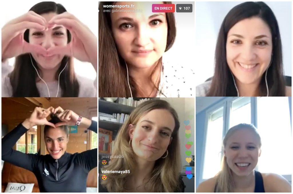 [BEST-OF] Gabriella Papadakis, Mathilde Gros, Élodie Clouvel, Olivia Epoupa… elles sont toutes passées en «live» avec nous sur Instagram !