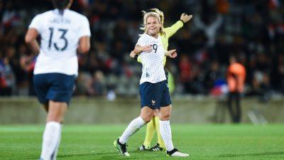Eugénie Le Sommer devient la meilleure buteuse de l'histoire de l'Équipe de France