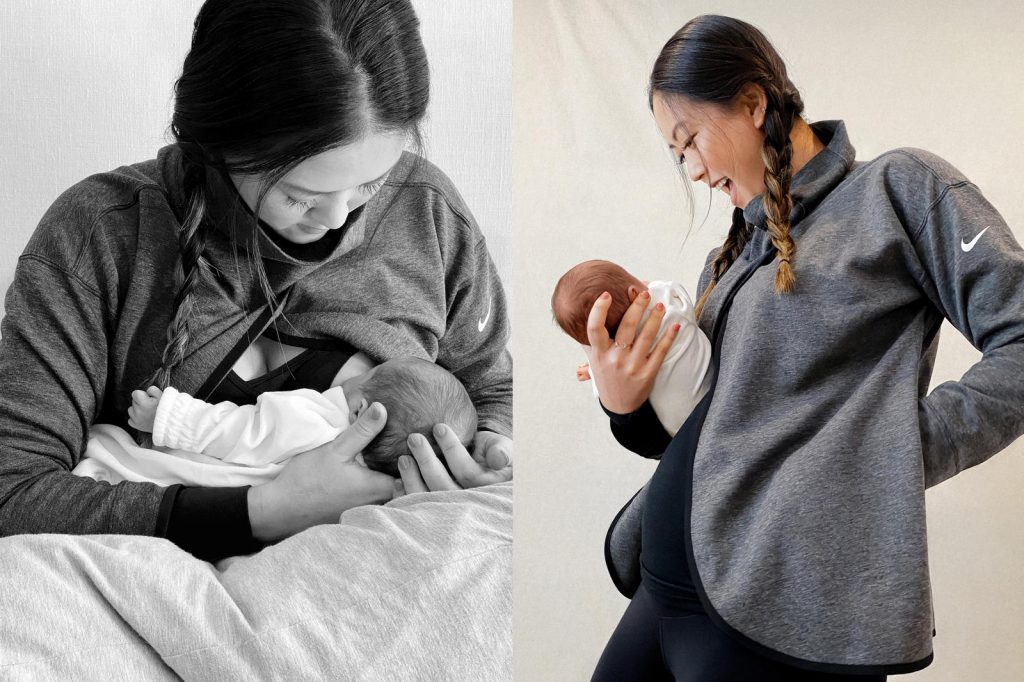 La golfeuse américaine Michelle Wie a aidé Nike à créer sa gamme maternité. (Photo by Nike)
