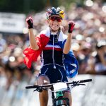 La Française Pauline Ferrand-Prévot a remporté ce samedi le titre de championne d'Europe en VTT.