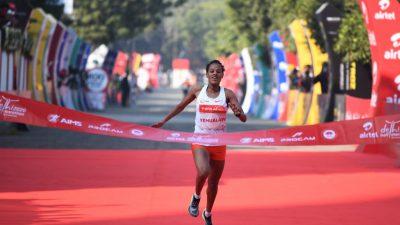 Semi-marathon de New Delhi – L'Etiophienne Yehualaw signe le 2ème chrono de l'histoire