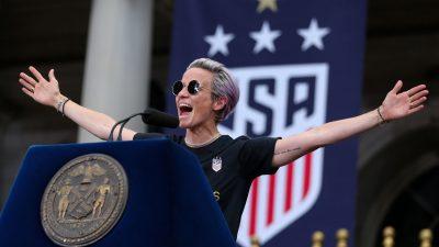 USA : Megan Rapinoe explose de joie après l'élection de Joe Biden et Kamala Harris