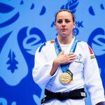 La Française Margaux Pinot a conservé son titre de championne d'Europe en -70kg. Sa compatriote Marie-Eve Gahié a pris le bronze.