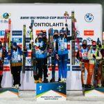 Très belle deuxième place pour les Bleues en Coupe du monde de biathlon dans le relais dames disputé samedi, à Kontiolahti (Finlande). La victoire revient au relais Suédois emmené par Hanna Oeberg.