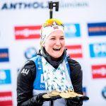 Une sportive s'est particulièrement distinguée en 2020 selon nos confrères du journal L'Équipe : Marte Olsbu Roeiseland (biathlon).