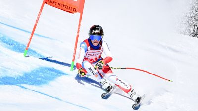 Ski alpin : Lara Gut-Behrami victorieuse sur le super-G de Crans Montana